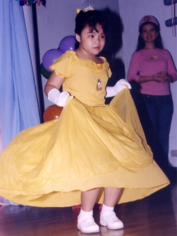 Sam as Belle